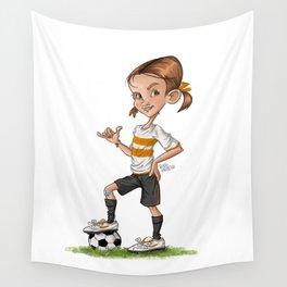 Soccer Girl Wall Tapestry