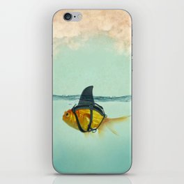Brilliant DISGUISE - Goldfish with a Shark Fin iPhone Skin