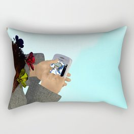 Fly: Just Push Play Rectangular Pillow