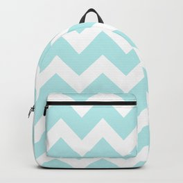 Turquoise Aqua Blue Chevron Backpack