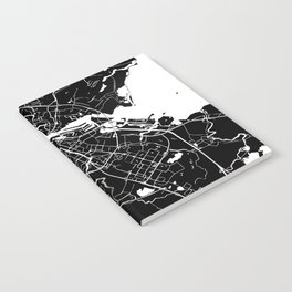 Amsterdam Black on White Street Map Notebook