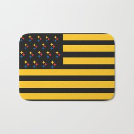 Pittsburgh Steeler Flag Pledge Allegiance Bath Mat