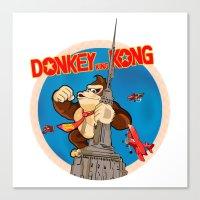 donkey kong Canvas Prints featuring Donkey King Kong by Vickn