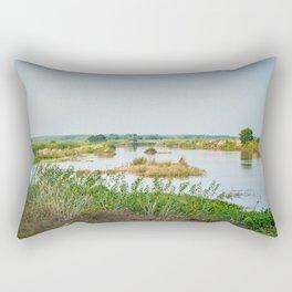 Shades of Ganga Rectangular Pillow