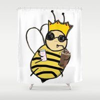 queen Shower Curtains featuring queen! by gasponce