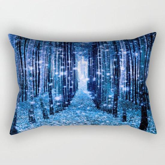 Magical Forest Bluest Blues Rectangular Pillow