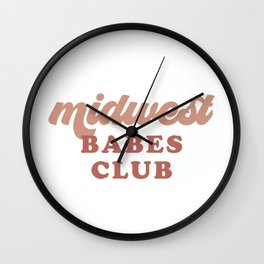 Midwest Babes Club Wall Clock