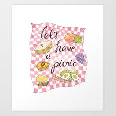 Let's Have A Picnic Art Print