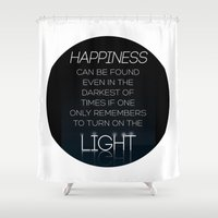 dumbledore Shower Curtains featuring Harry Potter Albus Dumbledore Quote by raeuberstochter
