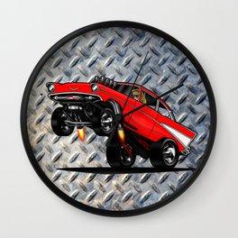 1957 Classic Chevy Gasser Wall Clock