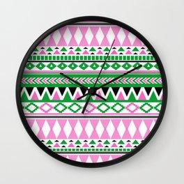 Tribal Pattern 07 Wall Clock
