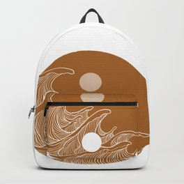 Yin Yang Wave Sun and Moon  Backpack