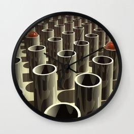 Stockyard of Cylinders Wall Clock