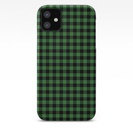 Classic Green Country Cottage Summer Buffalo Plaid iPhone Case
