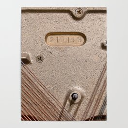 Abstract Detail Of The Inside Of A Piano Poster