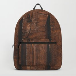 Rustic brown old wood Backpack