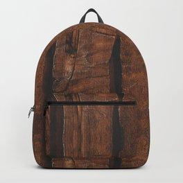 Rustic brown old wood Backpack