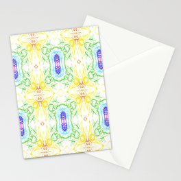 Seven colors  of chakras and rainbow Stationery Cards