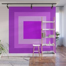 Light Purple Square Design Wall Mural