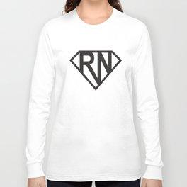 Super Rn Super Nurse Ladies Soft Cute Nurse Girlfriend Wife Gift Nurse T-Shirts Long Sleeve T-shirt