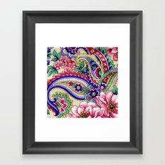 Floral Deco Framed Art Print