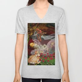 Where The Wild Roses Grow. Unisex V-Neck