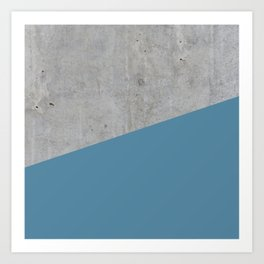 Concrete and Niagara Color Art Print