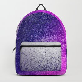Hot Pink and Purple Paint Splatter Backpack