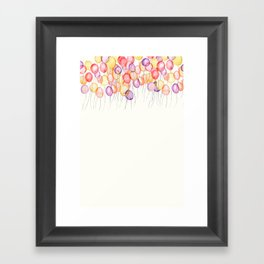 flying to the sky Framed Art Print