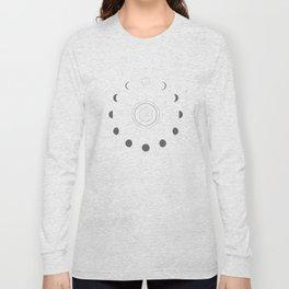 Moon Phases Light Long Sleeve T-shirt