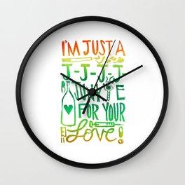 I'm Just A J-J-J-J-Junkie For Your Love Wall Clock
