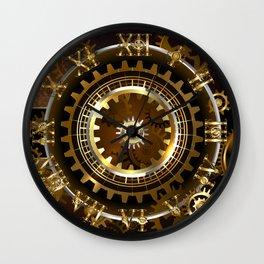 Steampunk Clock with Gears Wall Clock