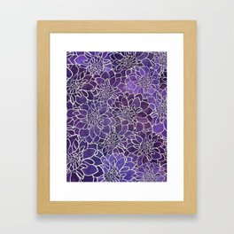 Dahlia Flower Pattern 3 Framed Art Print