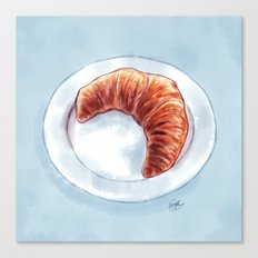 Croissant Canvas Print