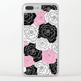 Modern Roses Clear iPhone Case