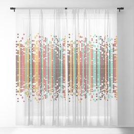 Tiny spheres Sheer Curtain