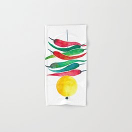 Lemon chilli charm Hand & Bath Towel