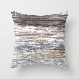 Gray abstract watercolor Throw Pillow