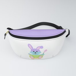 Furry, Pastel Easter Bunny Fanny Pack