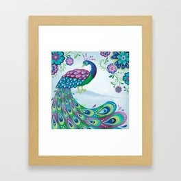 Flaunting It Peacock Framed Art Print