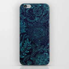 floral case blue iPhone & iPod Skin