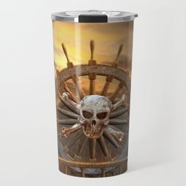 Pirate Skull Rudder Travel Mug