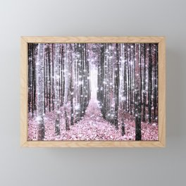 Magical Forest Pink Gray Elegance Framed Mini Art Print