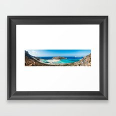 Balos Lagoon in Crete Framed Art Print
