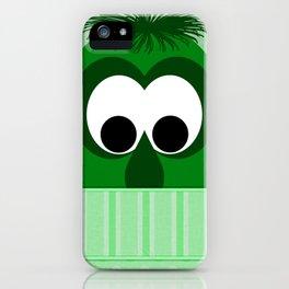 Silly Little Dark Green Monster iPhone Case