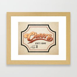 Cheers - Where everybodyknows your name Framed Art Print