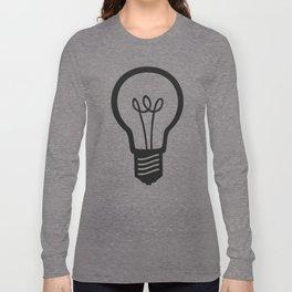 Simple Light Bulb Long Sleeve T-shirt
