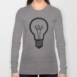 Simple Light Bulb Long Sleeve T-shirt