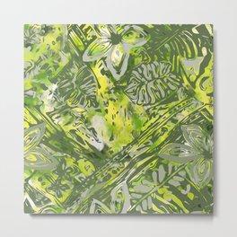 Hawaiian Green Forest Metal Print