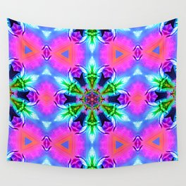 Cannabaphomet (Psychedelic Glitch Mandala Remix Version) Wall Tapestry